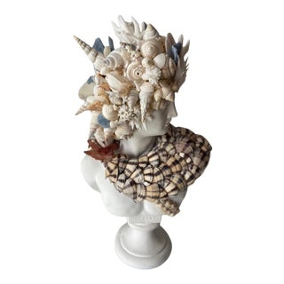 Contemporary Medium Shell Encrusted Apollo Bust For Sale