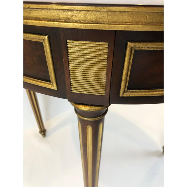 Metal Round Regency Style Side Table With Bronze Mounts For Sale - Image 7 of 13
