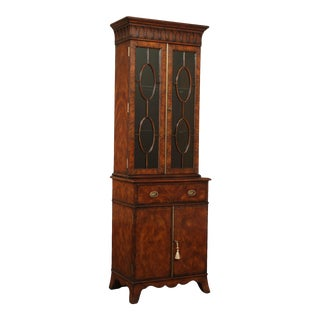Theodore Alexander Althorp Living History Mahogany Niche Bookcase Bar Curio Cabinet For Sale