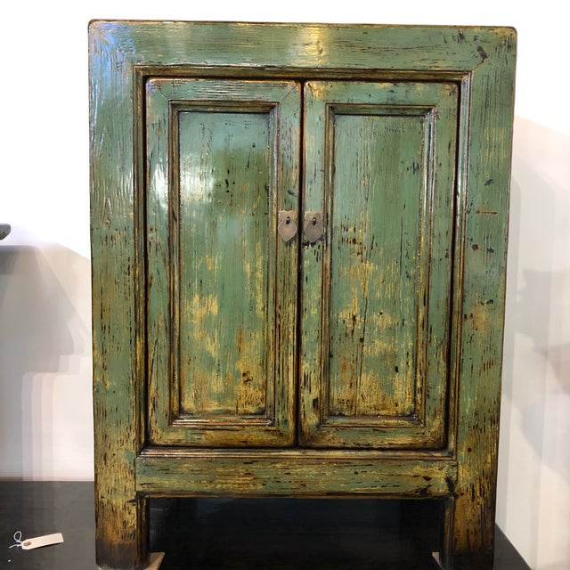 Chinese Vintage Chinese Lacquered Small Buffet For Sale - Image 3 of 7