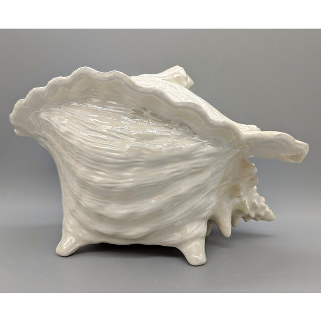 Cottage Vintage Mid-Century Conch Seashell Soup Tureen For Sale - Image 3 of 13