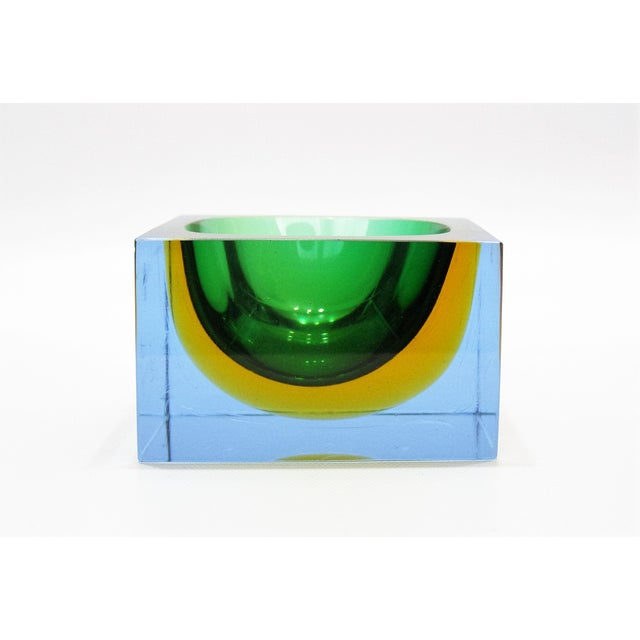 Italian Mandruzzato Murano Tri-Color Glass Bowl - Image 7 of 11