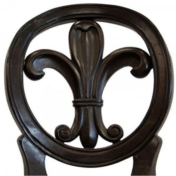 Sensational Modern Fleur De Lis French Leather Bar Stool Short Links Chair Design For Home Short Linksinfo