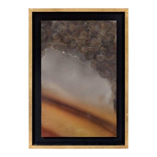 Abstract Patinated Brass Wall Art by Raul Monje For Sale
