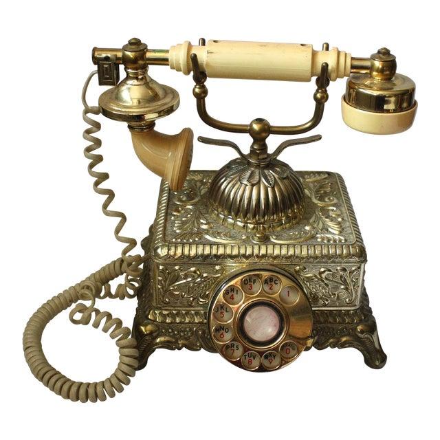 Hollywood Regency Brass Phone - Image 1 of 5