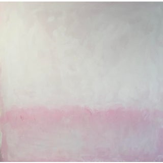 Horizon in Pink Contemporary Abstract Painting For Sale