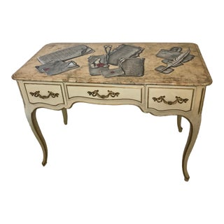 French Louis XV Style Hand Painted Wooden Desk by Maison Jansen C.1930 For Sale