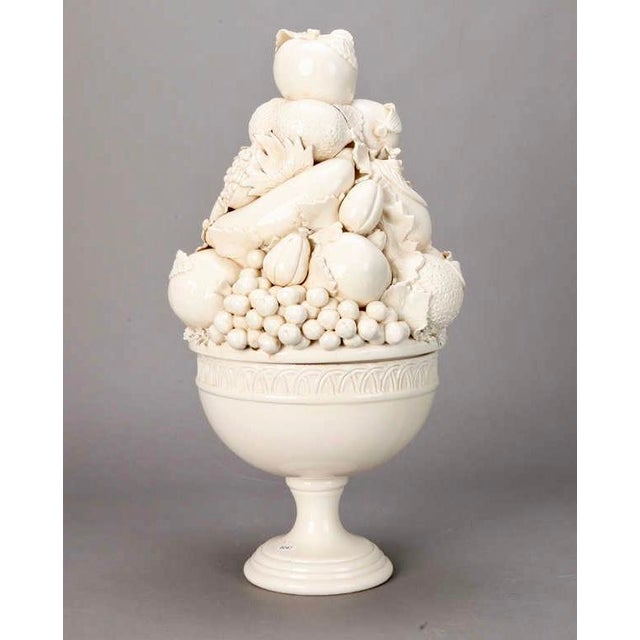 Tall Italian Porcelain Fruit Compotes - A Pair - Image 3 of 5