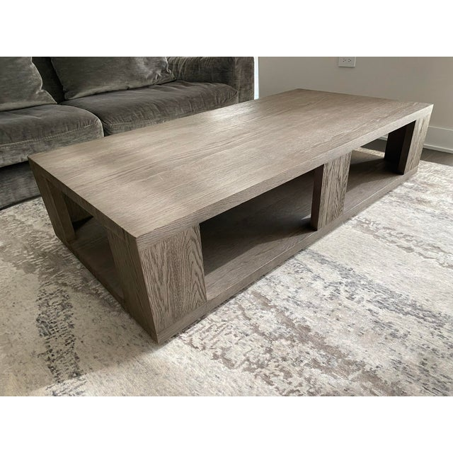 Restoration Hardware Hayes Rectangular Coffee Table In Grey Oak Chairish