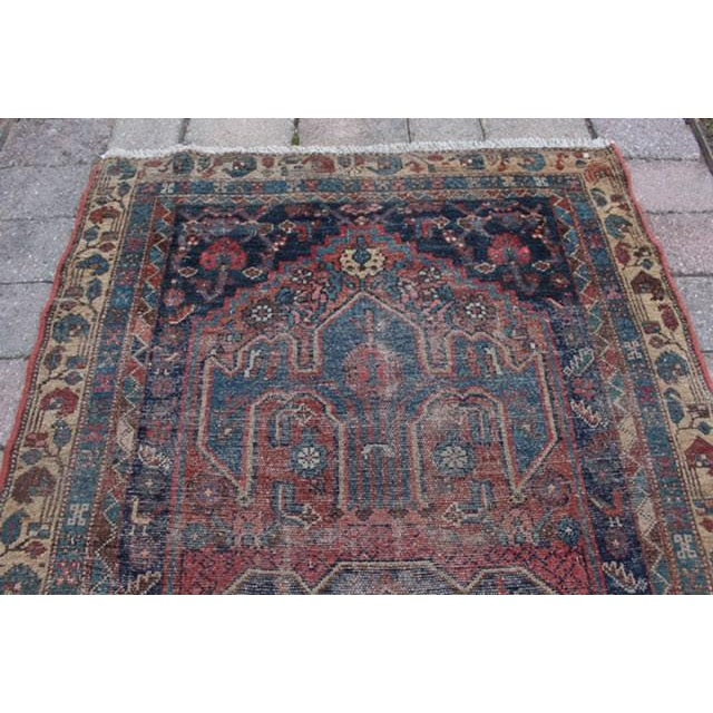 """Antique Persian Rug - 3'6"""" x 6'2"""" - Image 6 of 8"""