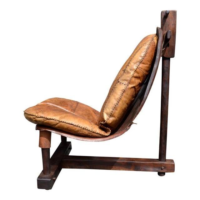 Rare Brazilian Modern Chair & Ottoman - Image 4 of 4