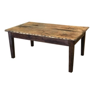 Antique French Solid Wood Coffee Table