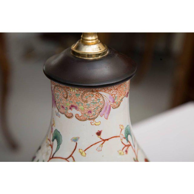Gourd Shaped Table Lamps with Floral Designs For Sale - Image 4 of 9