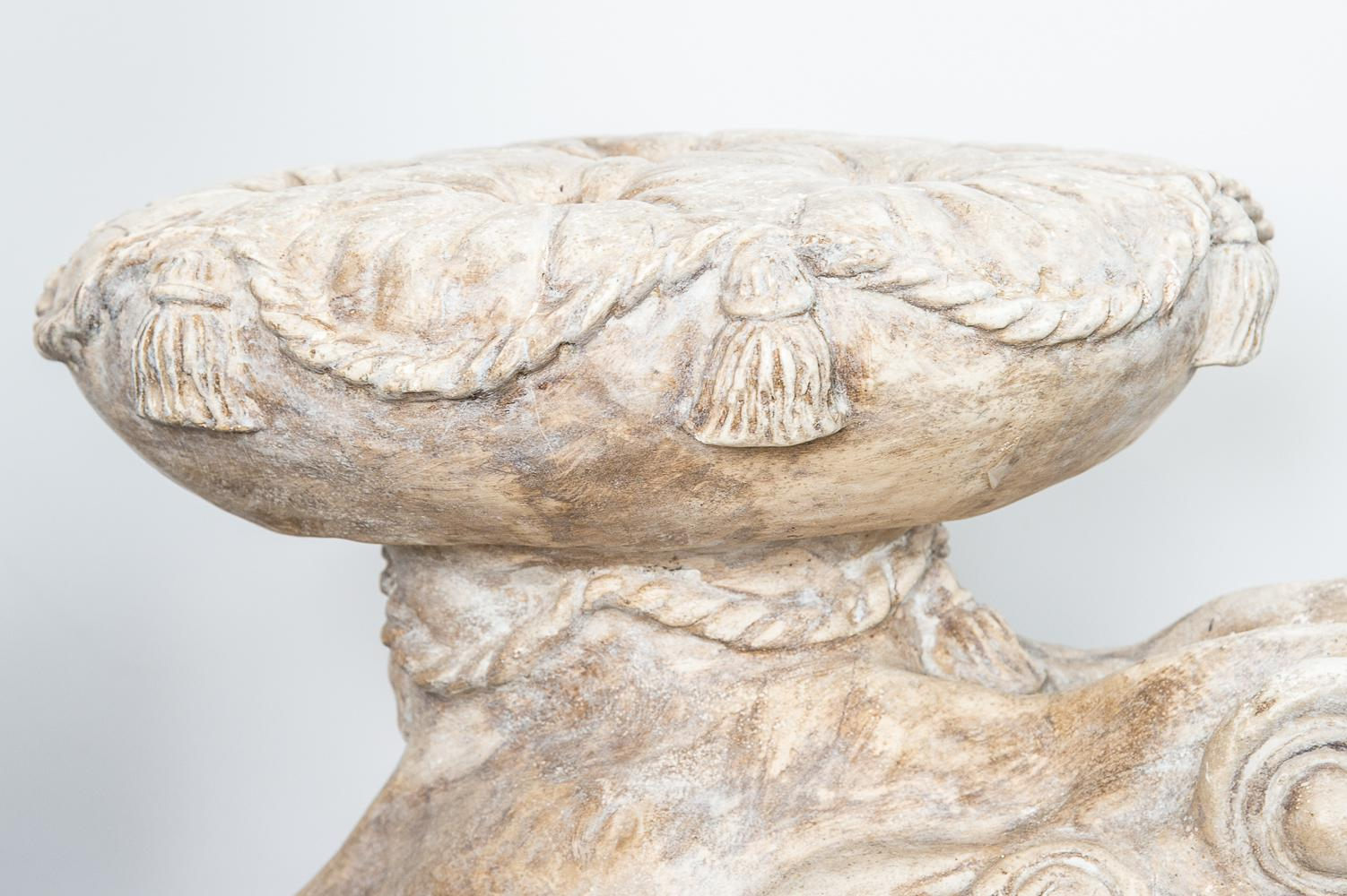 Italian Large Toad Stone Garden Seat   Image 8 Of 13