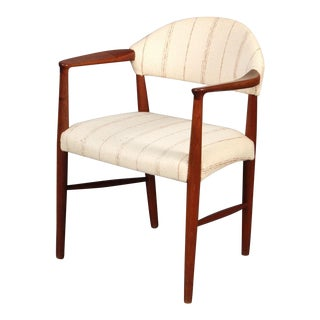 1950s Ejnar Larsen and Aksel Bender Madsen Danish Modern Teak Armchair For Sale