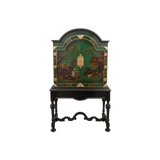Traditional Hand Painted Asian Bar For Sale