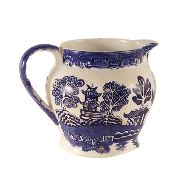 Allertons Blue and White Willow Pitcher - Image 1 of 6