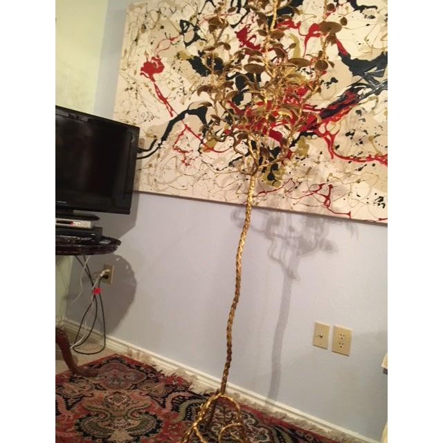 Gold Large Floor Art Candelabra For Sale - Image 8 of 13