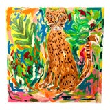 "Image of ""Exotica"" Abstract Leopard Painting by Ebony Boyd For Sale"