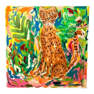 """Exotica"" Abstract Leopard Painting by Ebony Boyd For Sale"