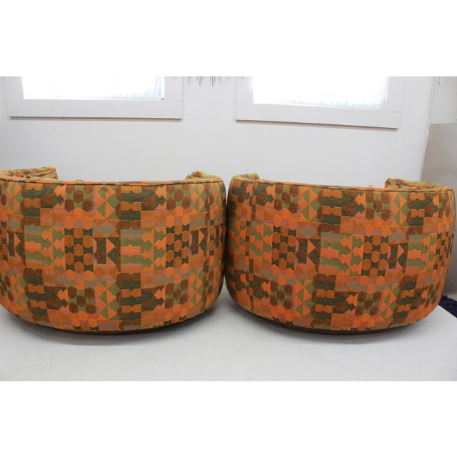 Bernhardt Mid Century Modern Flair -Bernhardt Pair of Upholstered Chairs For Sale - Image 4 of 13