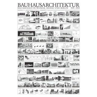 Unknown 'Bauhaus Architektur' Realism Black & White Germany Offset Lithograph For Sale