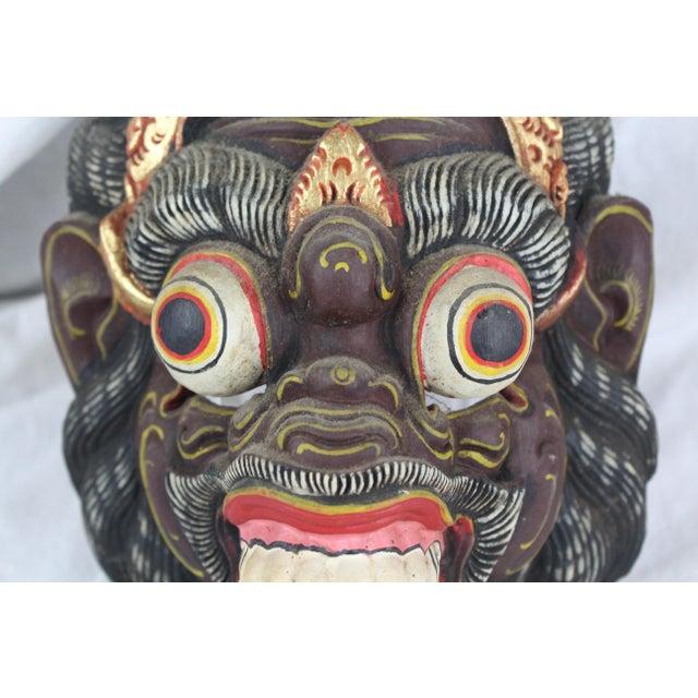 Gold Primitive Asian Monkey Mask For Sale - Image 7 of 8