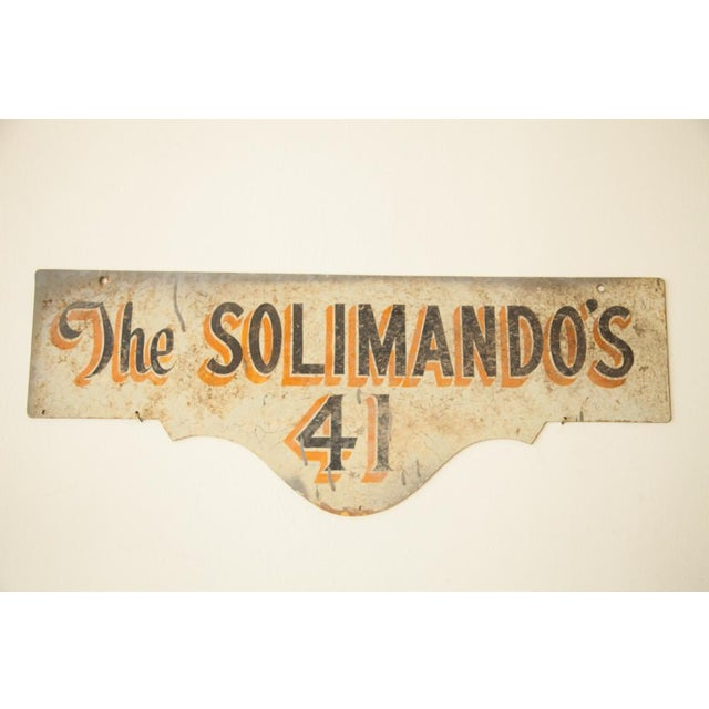 Vintage Deco Double Sided House Sign Solimando's - Image 2 of 7