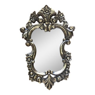 Rococo Style Tinted Carved Wall Mirror