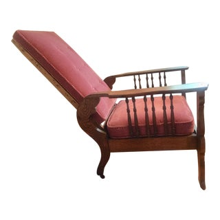 Oak Reclining Chair by Cook & Co Mnfg For Sale