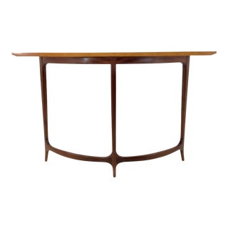 Mid-Century Modern Style in Curve II Console Table By: Theodore Alexander For Sale