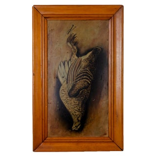 19th Century Trompe L'oeil Game Bird Painting For Sale