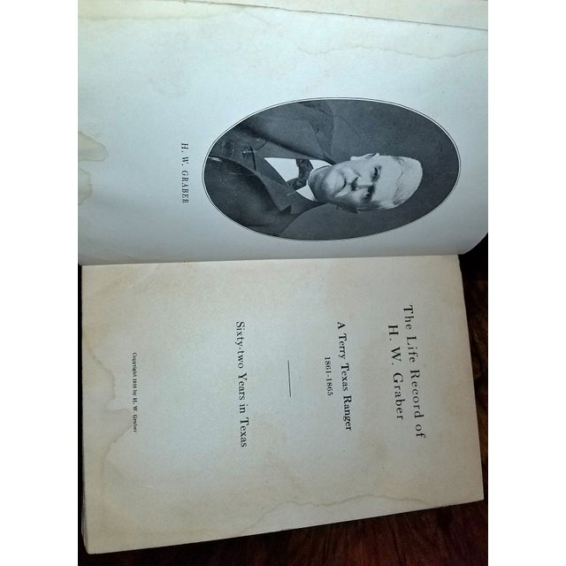 The Life Record of Hw Graber Texas Ranger Dedicated First Edition For Sale - Image 4 of 10