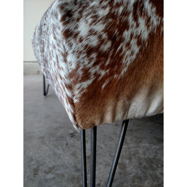 Gambrell Renard Tufted Cowhide Ottoman - Image 6 of 8