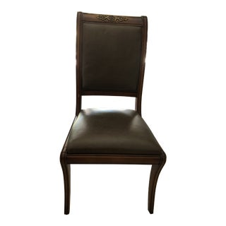 Henredon Traditional Leather Dining Chairs - Set of 12 For Sale