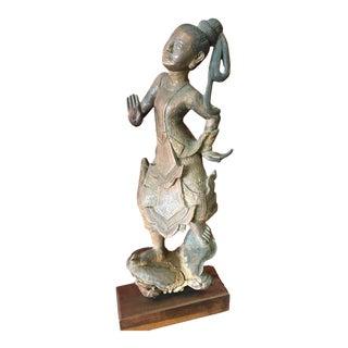Vintage Southeast Asian Carved Wood Sculpture