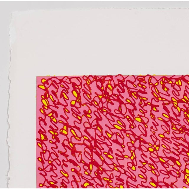 Contemporary Louise P. Sloane Red Pink For Sale - Image 3 of 4