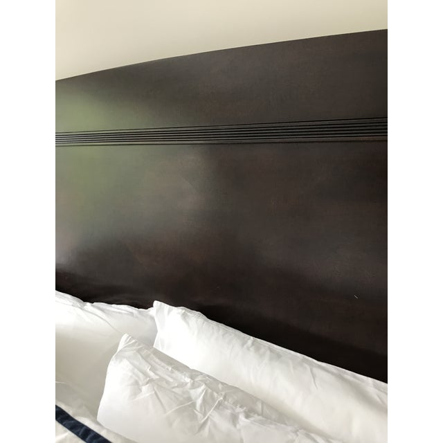 Lexington Nautica Dark Wood King Bed Frame For Sale In Washington DC - Image 6 of 10