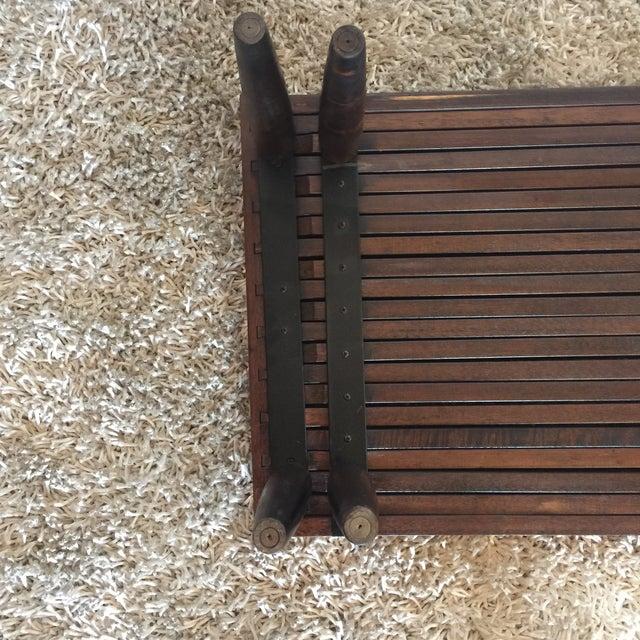 Brown Saltman Mid-Century Expandable Slat Bench - Image 9 of 9