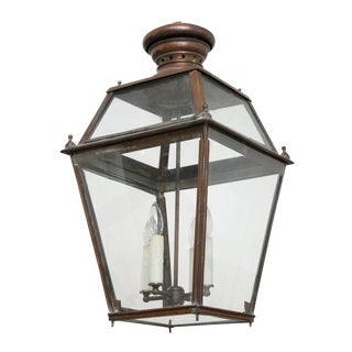Antique French Copper Lantern For Sale