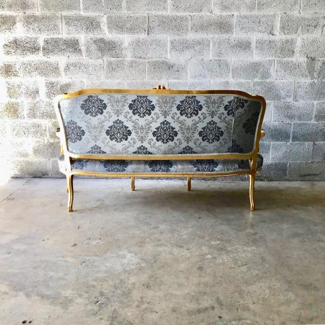 1960s Vintage Modern French Louis XVI Style Sofa For Sale - Image 4 of 6