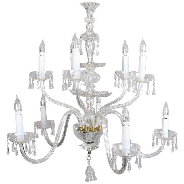 Oversized European Ten-Light Crystal Chandelier, 20th Century For Sale