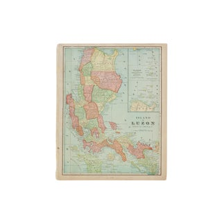 Cram's 1907 Map of Luzon For Sale