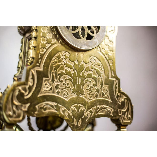 Metal French Mantel Clock, circa 19th Century For Sale - Image 7 of 11