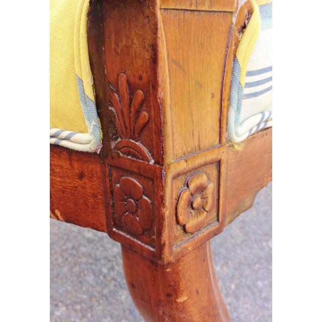 Mahogany 19th Century Napoleonic Mahogany Carved Arm Chair For Sale - Image 7 of 12