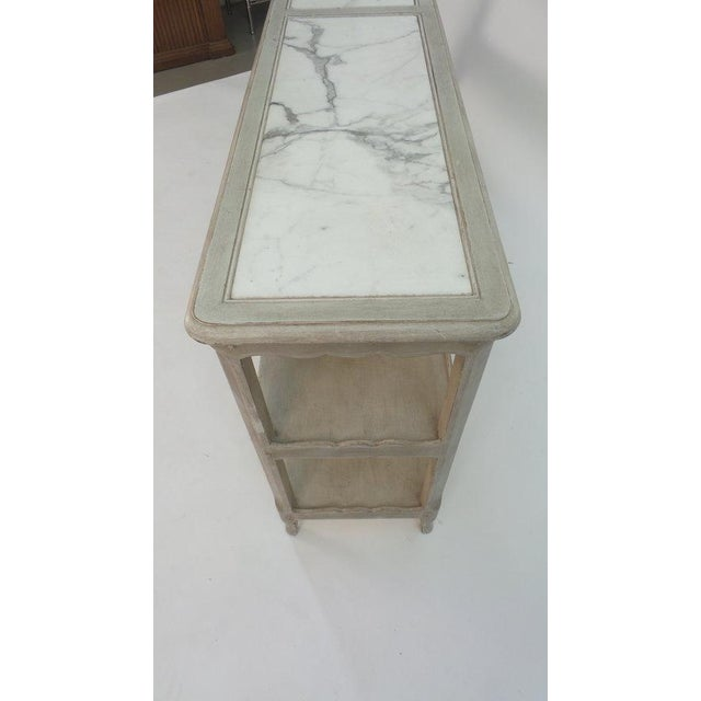 Marble Mellon model Louis XV two-tier table For Sale - Image 7 of 8