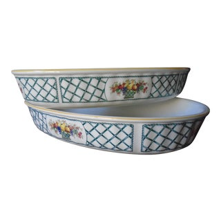 Villeroy & Boch Oval Baking/Serving Dishes - Set of 2 For Sale