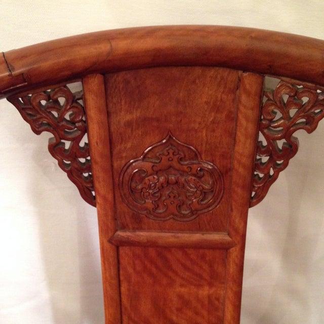 19th Century Hardwood Horseshoe Chairs - A Pair - Image 5 of 7