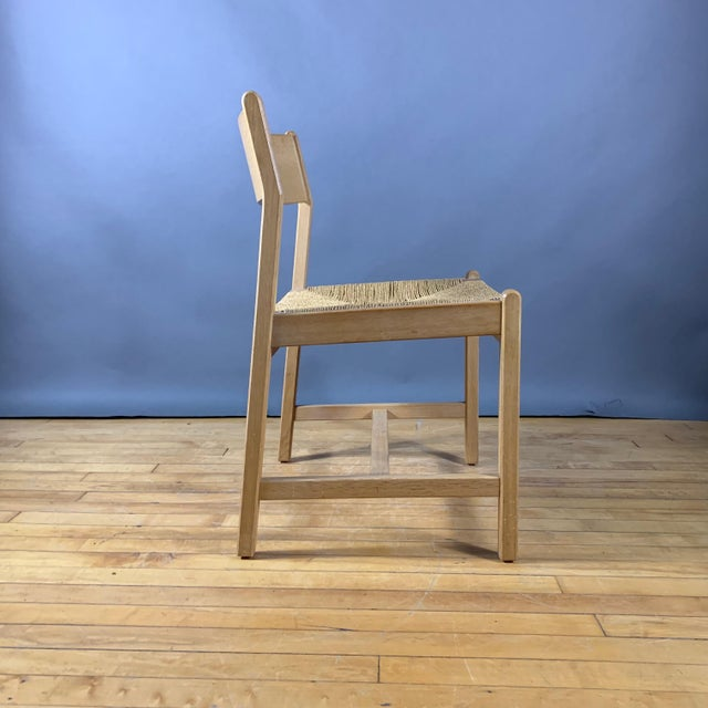 1960s Vintage Børge Mogensen Bm2 Oak & Papercord Dining Chairs- Set of6 For Sale - Image 9 of 13