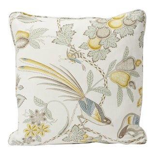 "Schumacher Champagne Print Double-Sided Pillow 18"" x 18"" For Sale"